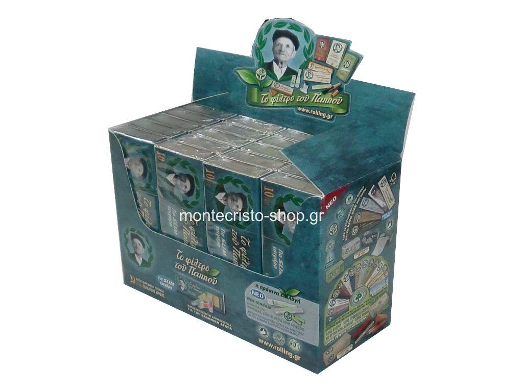 Κουτί με 20 πιπάκια του παππού slim 6mm 42902-020 πίπα τσιγάρου