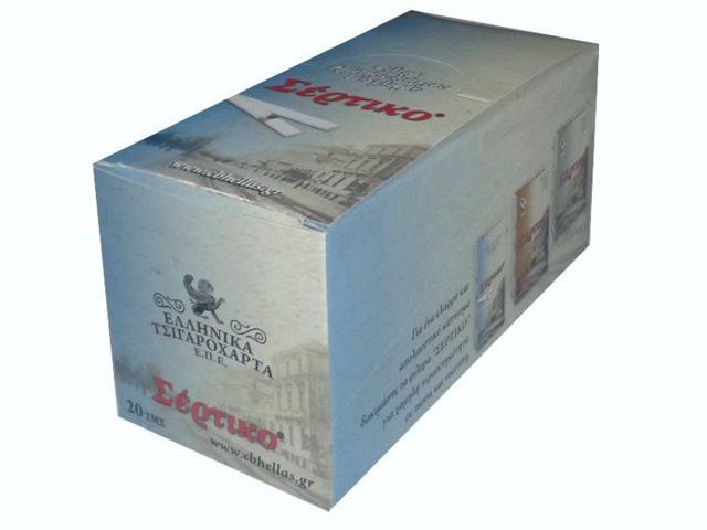 1695 - Κουτί με 20 φιλτράκια Σέρτικο 120 γαλάζιο 5,5mm σε σελοφάν 51013