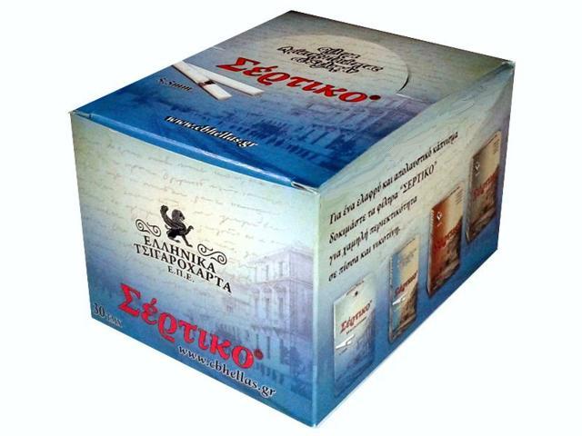 Κουτί με 30 Φιλτράκια Σέρτικο γαλάζιο 5,5mm σε σελοφάν μικρό