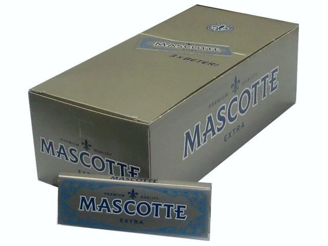 1719 - Κουτί με 50 χαρτάκια στριφτού MASCOTTE extra ασημί