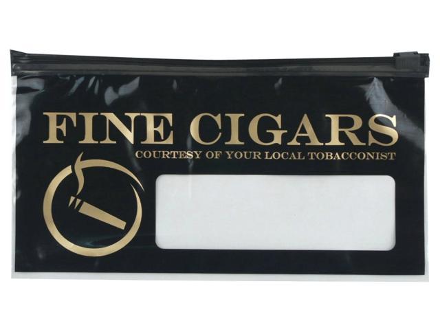 Πλαστικά σακουλάκια FINE CIGARS με φερμουάρ για 10 πούρα, 99012921