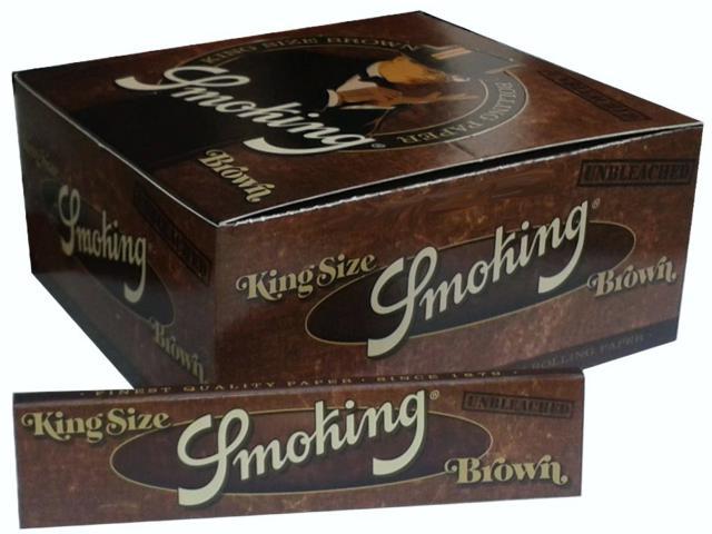 Κουτί με 50 Χαρτάκια Smoking Brown unbleched king size 33φύλλα