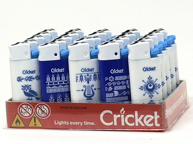 10988 - Αναπτήρας Cricket Greek Symbols Mini 22125308 (κουτί των 25)