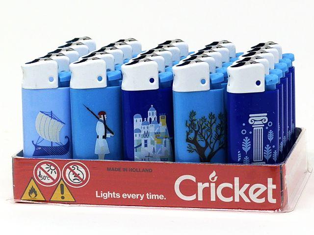 10990 - Αναπτήρας Cricket Greek Icons Mini 22125307 (κουτί των 25)