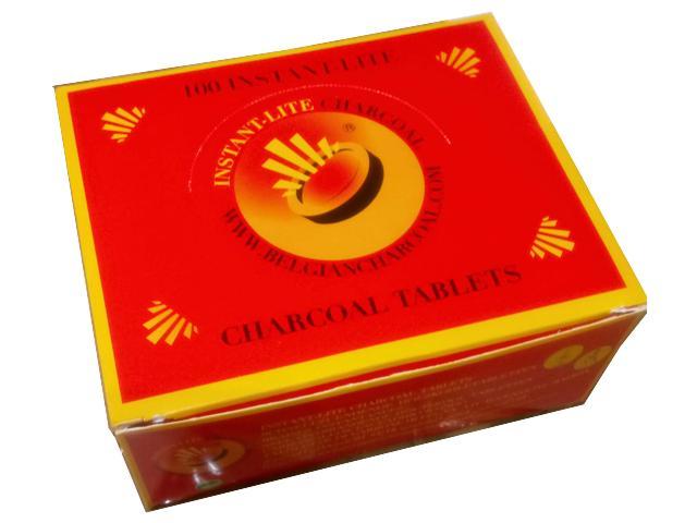 Κουτί με 10 συσκευασίες καρβουνάκια για ναργιλέ INSTANT-LITE CHARCOAL 33mm 5425016950111