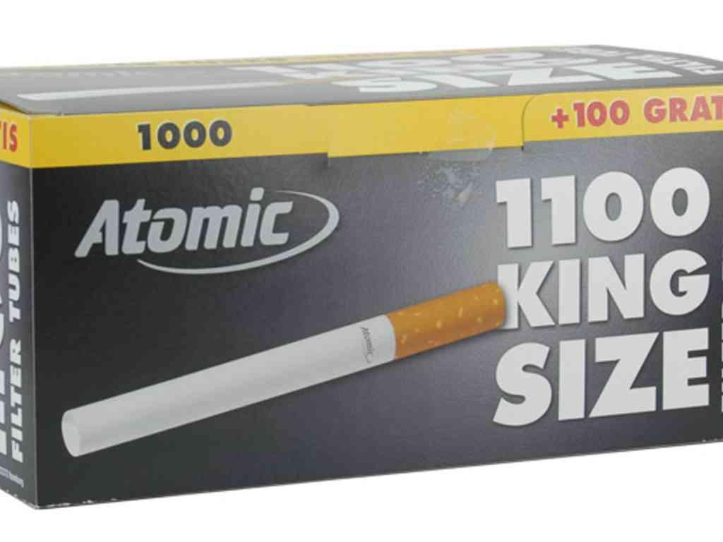 Άδεια τσιγάρα για γέμισμα ATOMIC TUBES κουτί με 1.100 τσιγαροσωλήνες 84mm