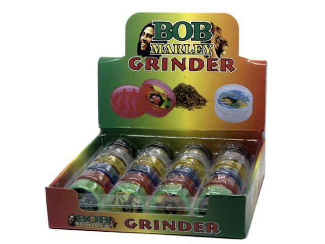 11153 - Τρίφτης καπνού BOB MARLEY 3cm Grinder 661-2011 διπλός 835288 (κουτί με 24 τεμάχια)