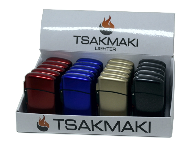 11180 - Αντιανεμικός Αναπτήρας TSAKMAKI JET FLAME 713 METAL (κουτί με 20 τεμάχια)