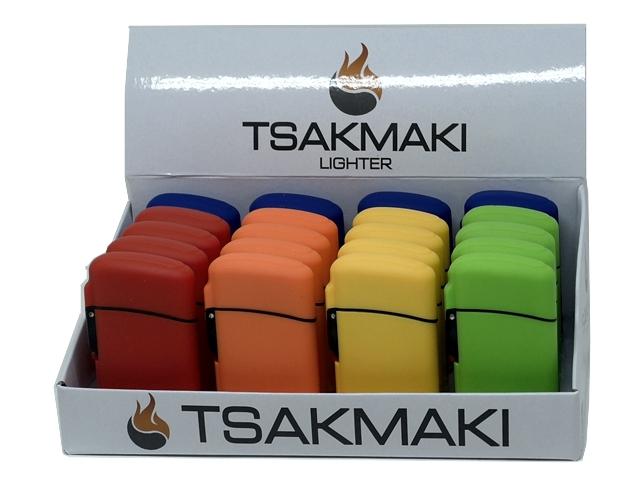 11182 - Αντιανεμικός Αναπτήρας TSAKMAKI JET FLAME 713 SOLID (κουτί με 20 τεμάχια)