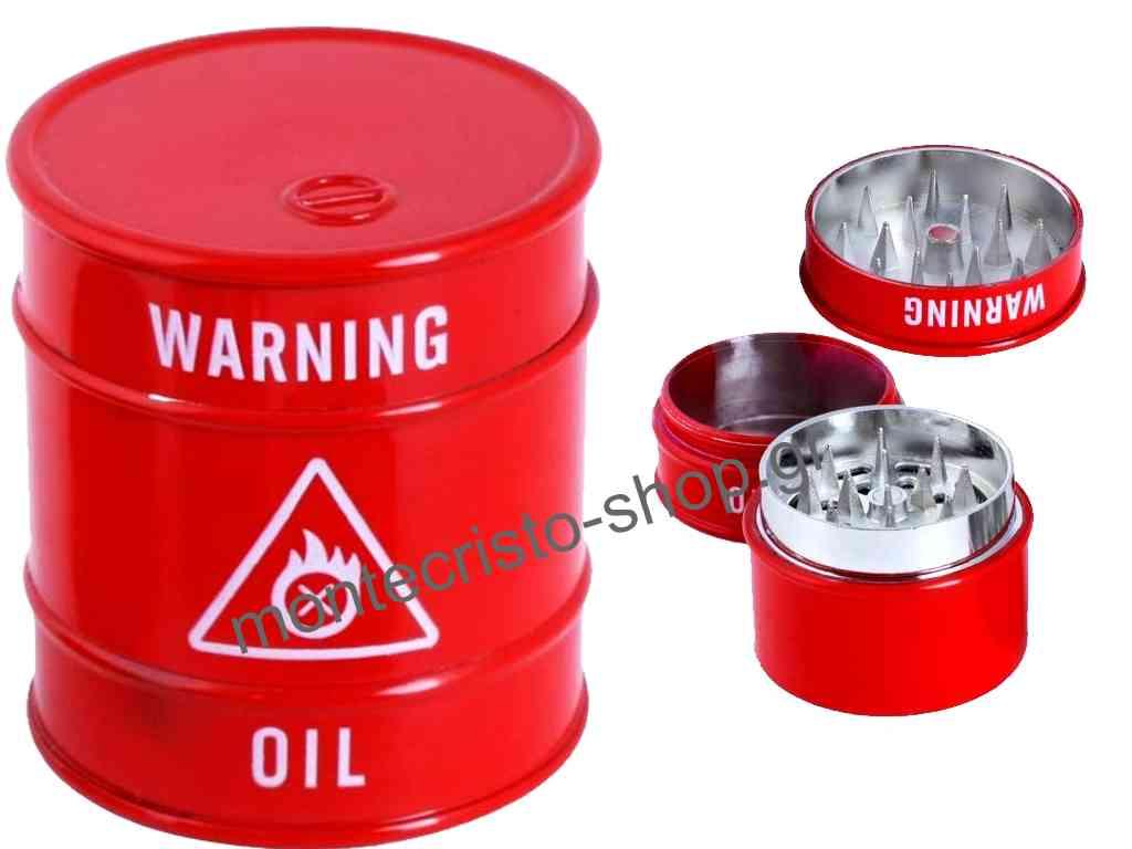 Τρίφτης καπνού Oil Barrel Grinder 40mm art 16029
