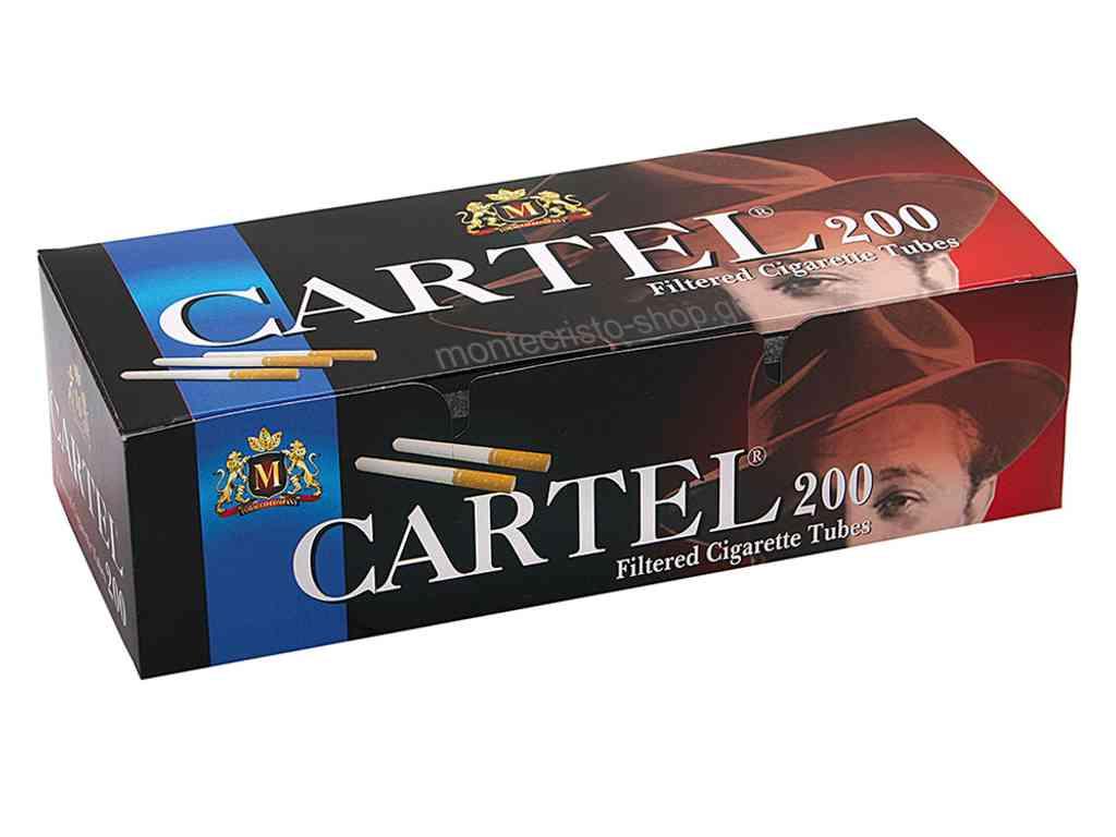 Αδεια τσιγάρα CARTEL 200 Filtered Cigarette Tubes King Size με 200 τσιγαροσωλήνες