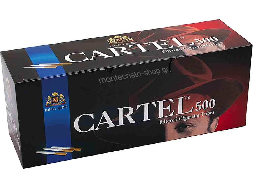 1878 - Άδεια τσιγάρα CARTEL 500 Filtered Cigarette Tubes King Size με 500 καπνοσωλήνες