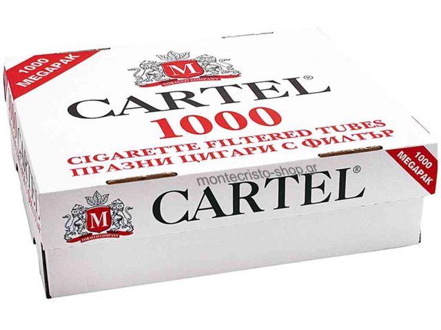 Άδεια τσιγάρα CARTEL 1000 Filtered Cigarette Tubes King Size με 1000 τσιγαροσωλήνες