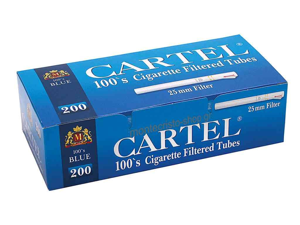 1882 - Αδεια τσιγάρα CARTEL 100s Blue 200 με 25mm φίλτρο και μακρύ τσιγάρο