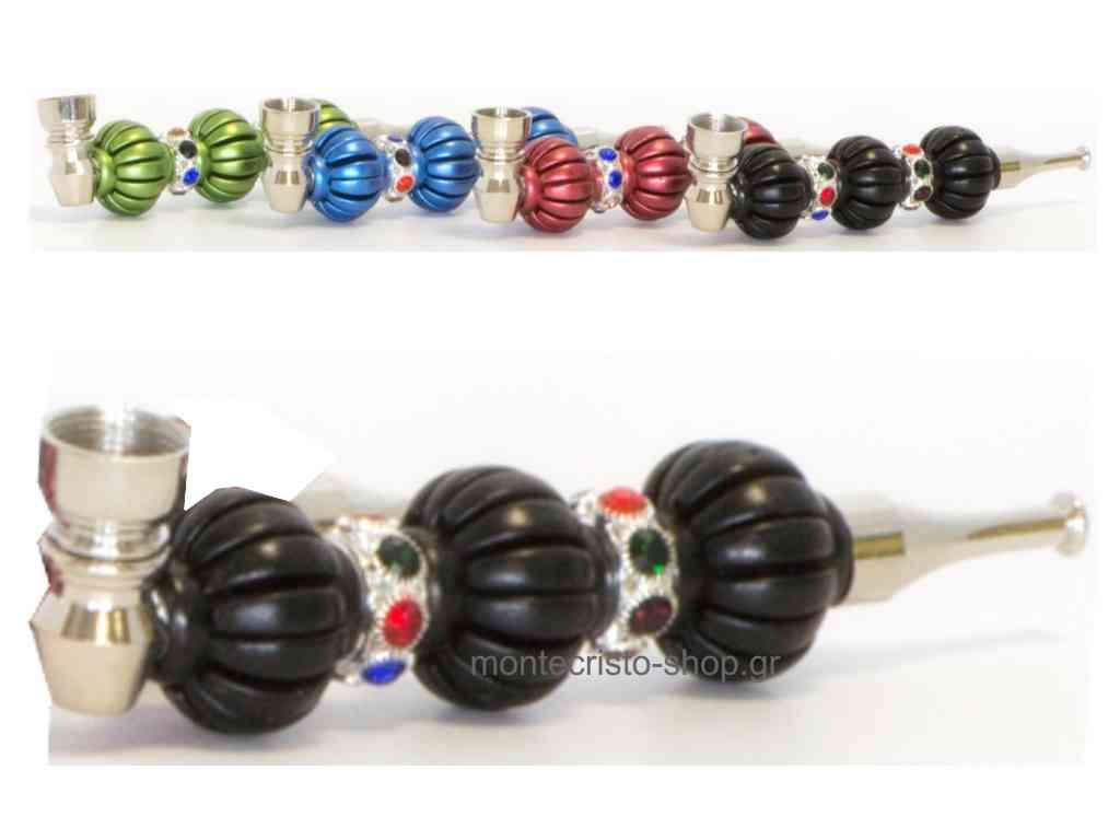 1884 - Πίπα CONEY Aladin Pipe 4 colors 14,5cm σε διάφορα χρώματα μεταλλική