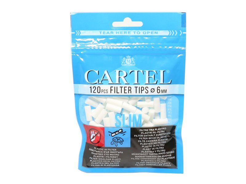 1898 - Φιλτράκια Cartel Slim 6mm με 120 φίλτρα το σακουλάκι και φίλτρο 15mm