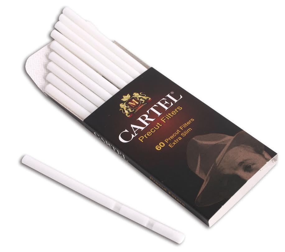 Φίλτρα Cartel Precut filters extra slim 5,3mm με 60 φιλτράκια τυλιγμένα σε μεμβράνη