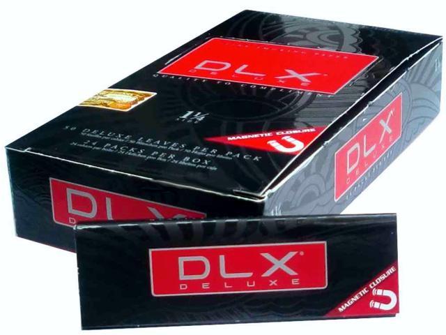 1932 - Κουτί με 24 χαρτάκια στριφτού DLX Deluxe Ultra fine λεπτό φύλλο 1 1/4 μεσαία με μαγνήτη με τιμή χονδρικής 0,50 το ένα