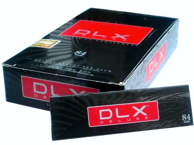 Κουτί με 24 τσιγαρόχαρτα DLX Deluxe 84mm Ultra fine λεπτό φύλλο με τιμή 0.86 το χαρτάκι
