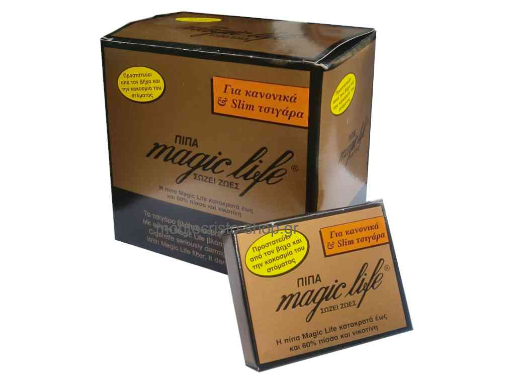 Κουτί με 12 συσκευασίες πίπα magic life για κανονικά και slim τσιγάρα