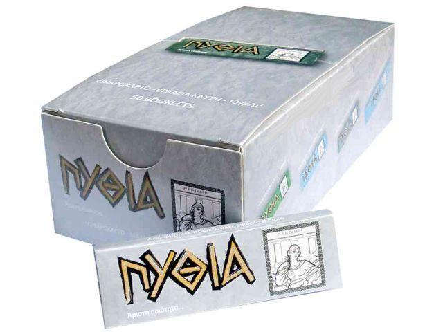 1945 - Κουτί με 50 χαρτάκια ΠΥΘΙΑ ασημί με 50 φύλλα