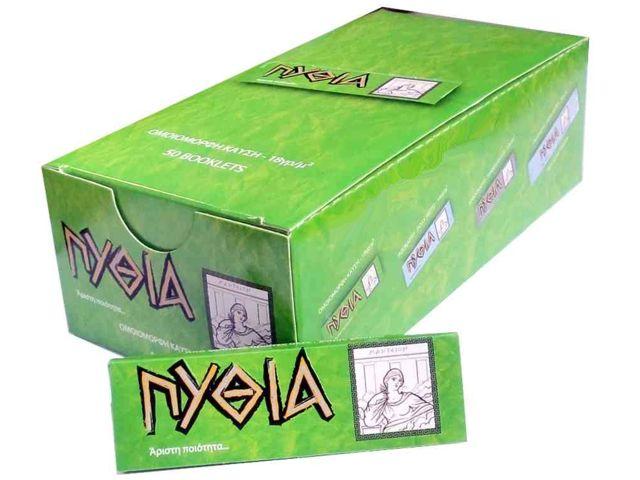 1949 - Κουτί με 50 Χαρτάκια ΠΥΘΙΑ πράσινα με 60 φύλλα