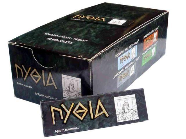 1951 - Κουτί με 50 χαρτάκια ΠΥΘΙΑ μαύρα με 50 φύλλα