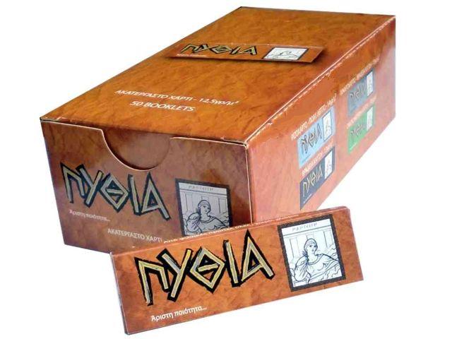 1953 - Κουτί με 50 χαρτάκια ΠΥΘΙΑ ακατέργαστα με 50 φύλλα