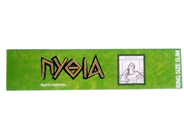 1956 - Χαρτάκια ΠΥΘΙΑ πράσινα King Size Slim με 32 φύλλα