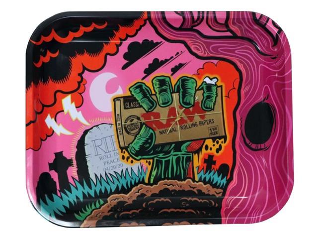 Δίσκος στριφτού RAW ZOMBIE METAL ROLLING TRAY MEDIUM 14225