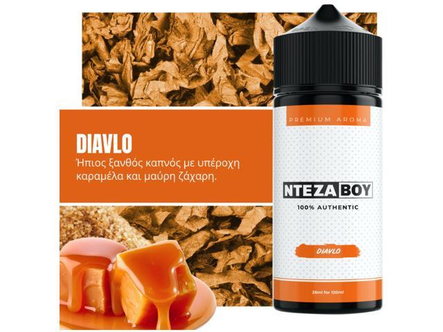 ΝΤΕΖΑΒΟΥ 100% AUTHENTIC Flavour Shot DIAVLO 25ml / 120ml (ήπιο καπνικό με καραμέλα και μαύρη ζάχαρη)