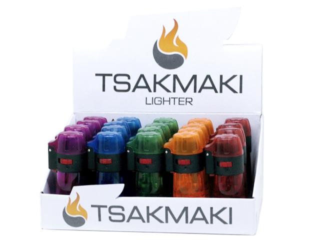 Αντιανεμικός Αναπτήρας TSAKMAKI JET FLAME 708 ΒΑΡΕΛΑΚΙ ΔΙΑΦΑΝΟ (κουτί 20 τεμαχίων)