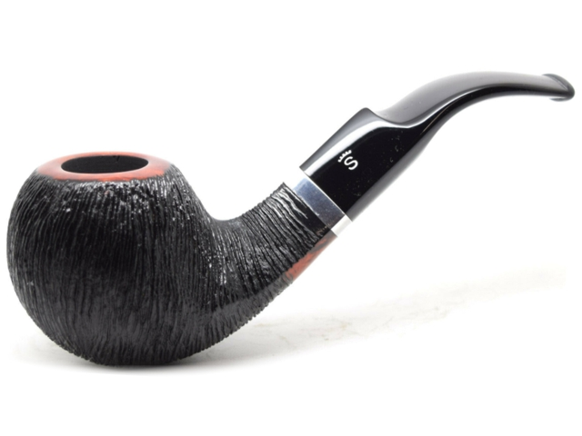 11357 - Stanwell Brushed Black 15 RING 9mm Pipe πίπα καπνού κυρτή