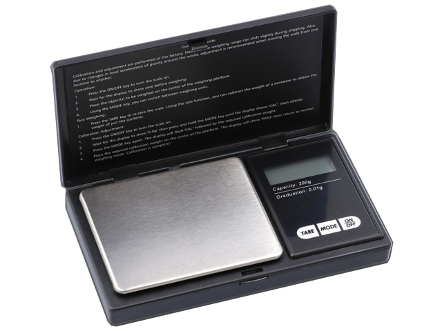 Ζυγαριά ακριβείας DIGITAL SCALE 200g x 0,01g MH PROFESIONAL MINI 661-9044
