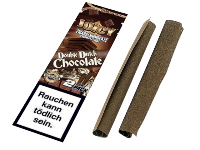 2061 - Πουρόφυλλα Juicy Jays BLUNTS DOUBLE DOUTCH CHOCOLATE TUBE
