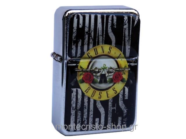 2068 - Αναπτήρας TRISTAR πέτρας με φιτίλι Guns N Roses