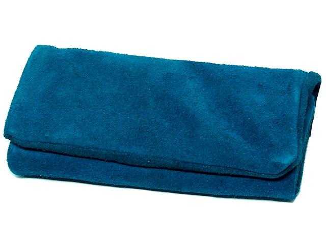 11418 - MARIO ROSSI 2681-08 ELECTRIC BLUE σουέτ δερμάτινη καπνοθήκη