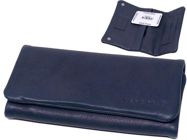 11419 - Καπνοθήκη Mario Rossi 2681-06 NAVY BLUE δερμάτινη για σακουλάκι καπνού