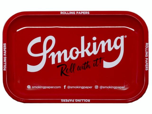 11421 - Δίσκος στριφτού SMOKING RED ROLLING TRAY LARGE