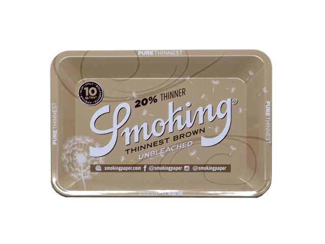11422 - Δίσκος στριφτού SMOKING BROWN ROLLING TRAY SMALL