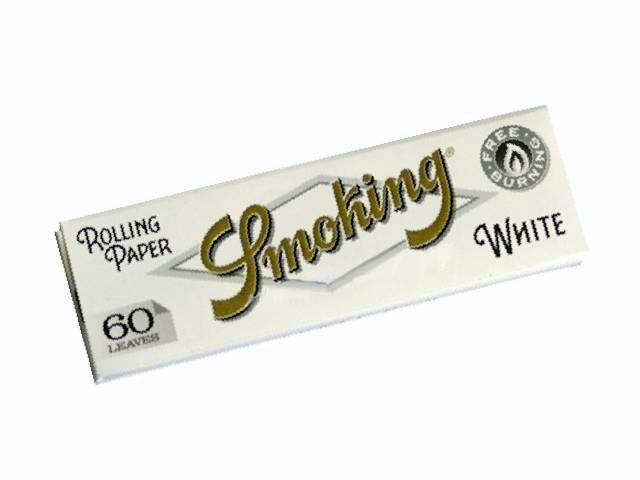 2078 - Χαρτάκια στριφτού SMOKING WHITE 60 φύλλα χοντρό πάχος