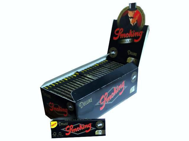 Κουτί με 50 χαρτάκια στριφτού SMOKING De Luxe 60 φύλλα