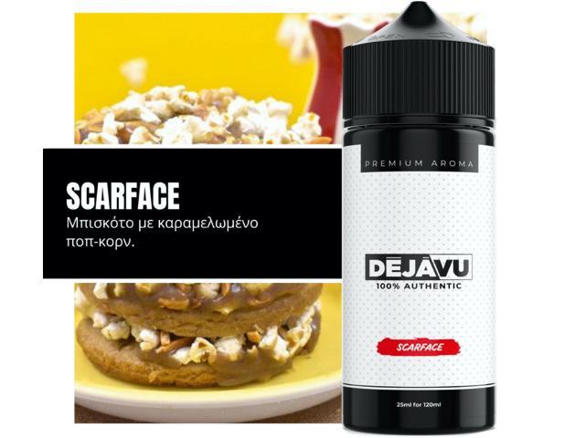 ΝΤΕΖΑΒΟΥ 100% AUTHENTIC Flavour Shot SCARFACE 25ml / 120ml (μπισκότο με καραμελωμένο ποπ κορν)