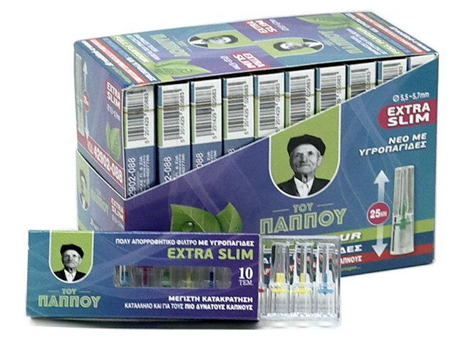 11484 - Κουτί με 20 πιπάκια του παππού extra slim 5,5 / 5,7mm 42902-088 πίπα τσιγάρου