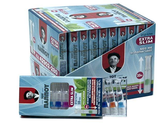 Κουτί με 20 μακριά πιπάκια του παππού extra slim 5,5 / 5,7mm 42902-280 πίπα τσιγάρου
