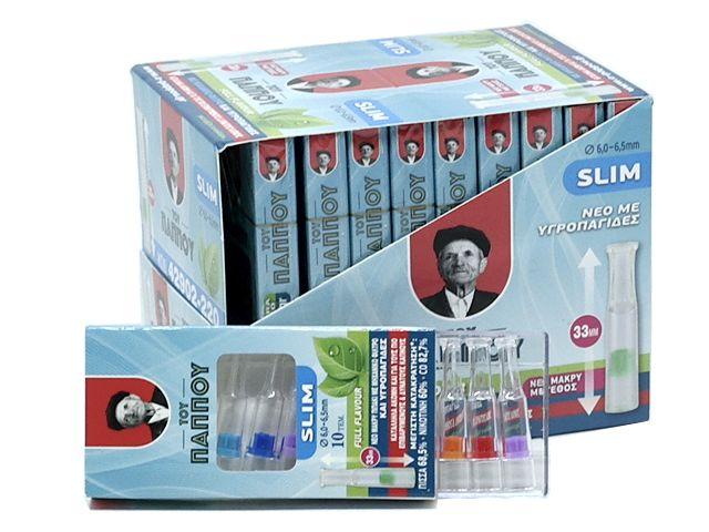 11490 - Κουτί με 20 μακριά πιπάκια του παππού Slim 6,0 / 6,5mm 42902-220 πίπα τσιγάρου