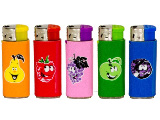 2154 - Αναπτήρας Atomic Electronic Lighter Midi Softflame Refillable Fruits ηλεκτρονικός