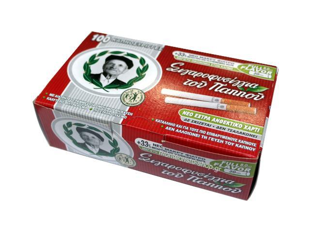 2976 - Καπνοσύριγγες του παππού με μακρύ φίλτρο με 100 άδεια τσιγάρα 47103