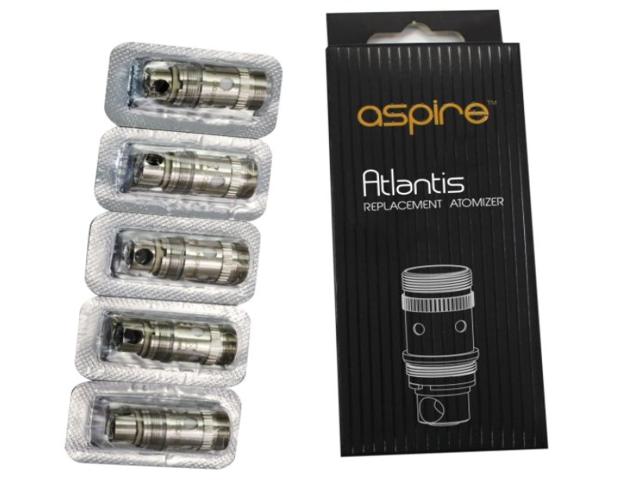 Ανταλλακτικές κεφαλές ASPIRE ATLANTIS ( 1.0Ω - 0.5Ω - 0.3Ω για ATLANTIS 2 & MEGA) συσκευασία 5 τεμαχίων (με τιμή 3.3 το Coil)
