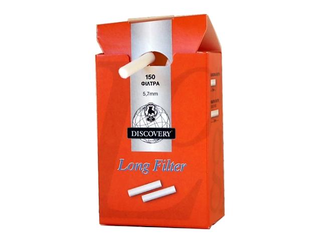 2240 - Φιλτράκια DISCOVERY Long Filter extra slim 5.7mm 150 (πορτοκαλί)